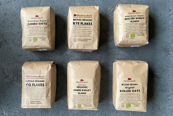 Flaked Cereals Selection Box - Hodmedod's British Pulses & Grains