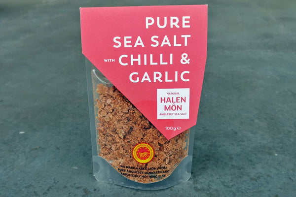 Pure Sea Salt with Chilli & Garlic - Hodmedod's British Pulses & Grains