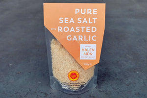 Pure Sea Salt with Roasted Garlic - Hodmedod's British Pulses & Grains