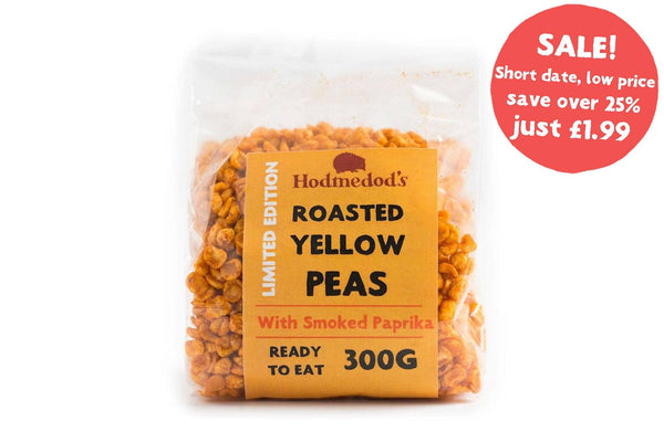 Roasted Yellow Peas - Smoked Paprika - short date / low price - Hodmedod's British Pulses & Grains