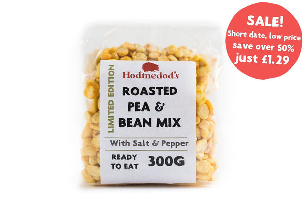 Roasted Peas & Beans - Cracked Black Pepper - short date / low price - Hodmedod's British Pulses & Grains