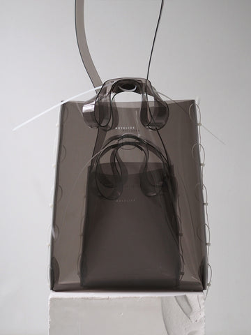 Miniature Zip Tied Tote - Smoke