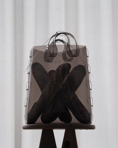 Zip Tied Tote - Smoke
