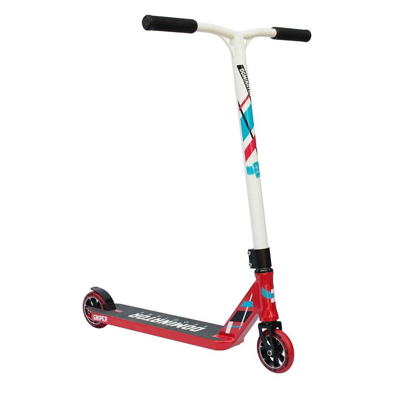 Red White Dominator Stunt Scooter - Main View