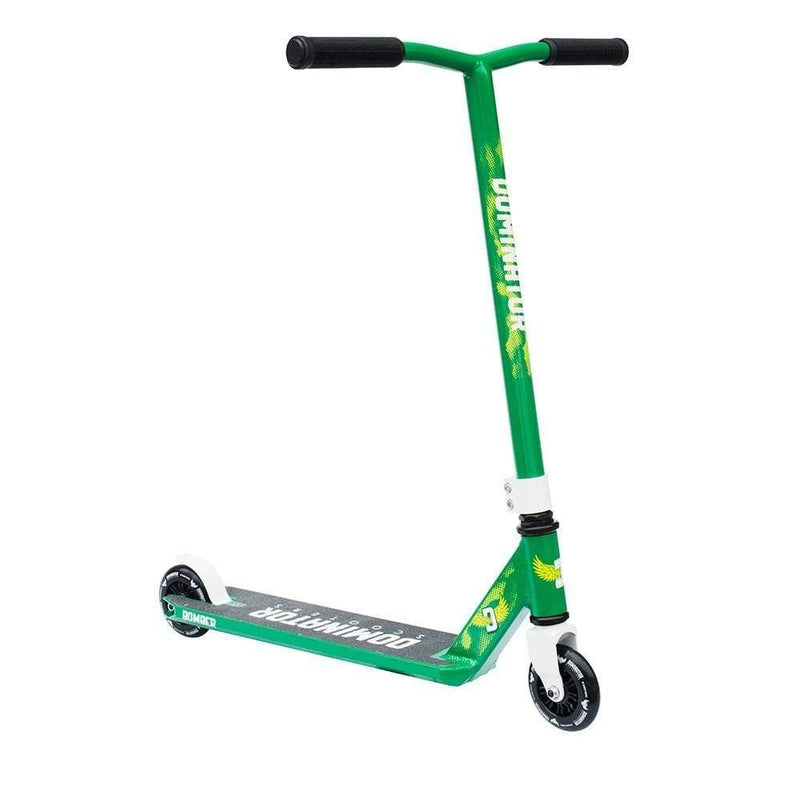 Green White Dominator Stunt Scooter - Main View