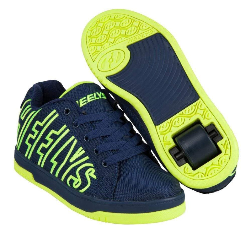 Heelys Split Navy Yellow One Wheel Heelys - Main View
