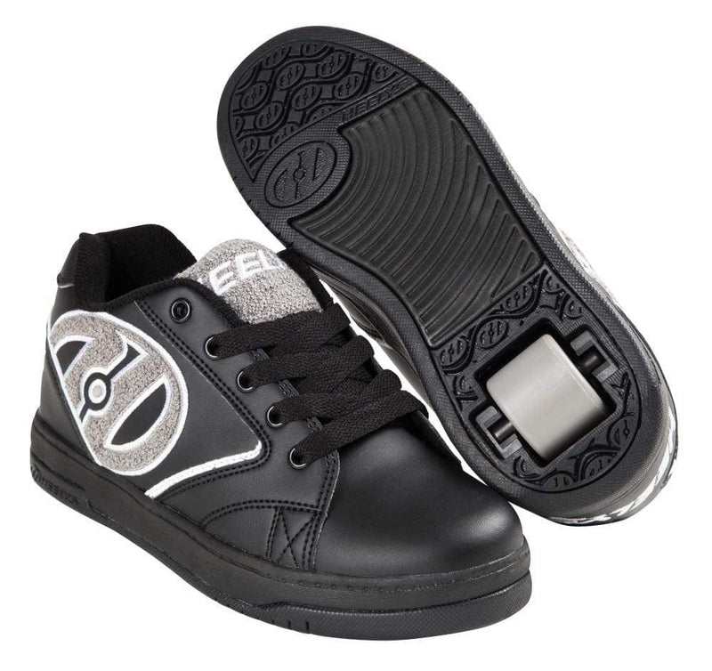 Heelys Propel Grey Black Terry One Wheel Heelys - Main View