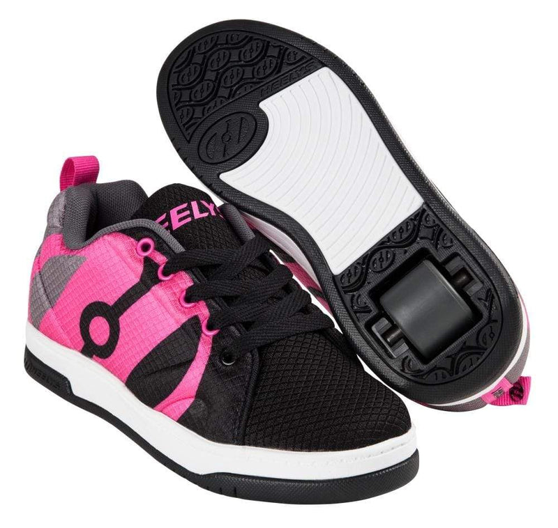 Heelys Repel Black Pink One Wheel Heelys - Main View