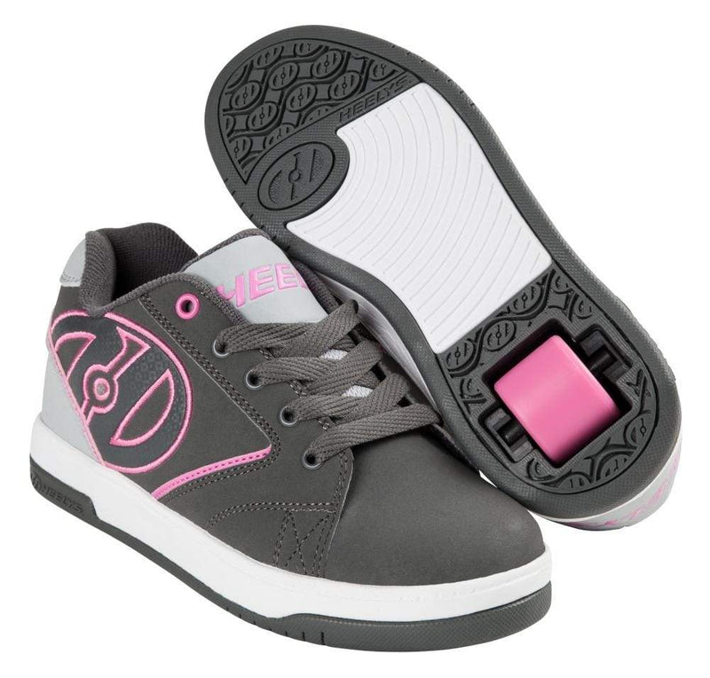 Heelys Propel Grey Pink One Wheel Heelys - Main View