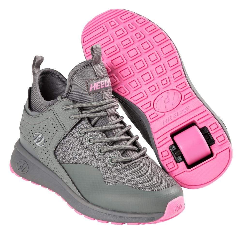 Heelys Piper Grey Pink One Wheel Heelys - Main View