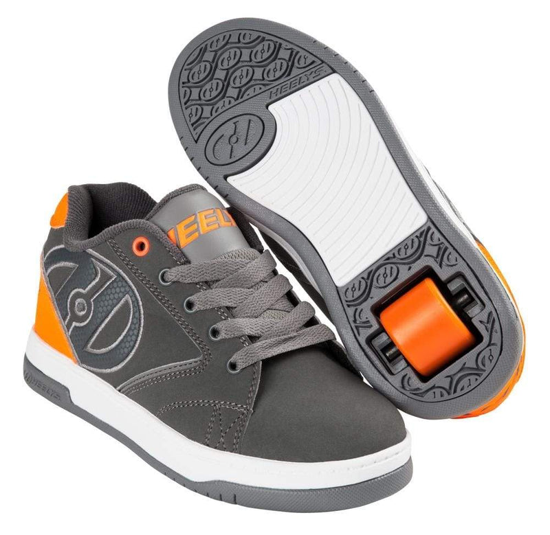 Heelys Propel Charcoal Orange One Wheel Heelys - Main View