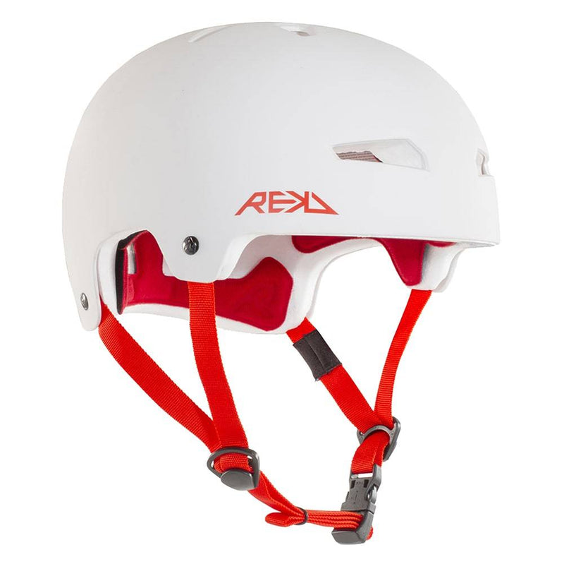 White Red REKD Helmet - Main View