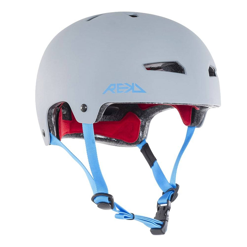 Grey Blue REKD Helmet - Main View
