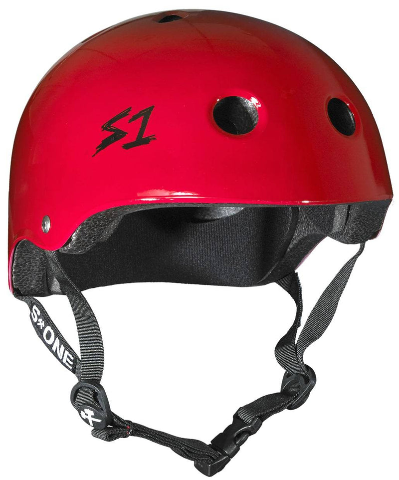 Red Gloss S1 Skate Helmet - Main View