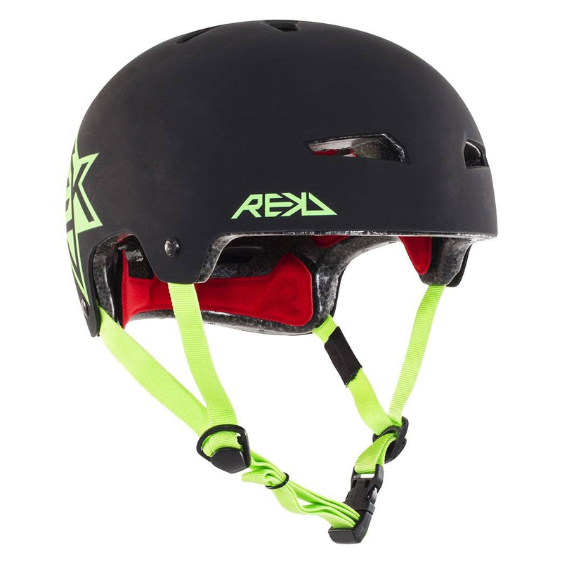 Black Green REKD Helmet - Main View