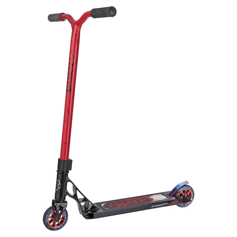 GRIT 2018 FLUXX COMPLETE SCOOTER - SATIN BLACK/RED BLACK QUAKE