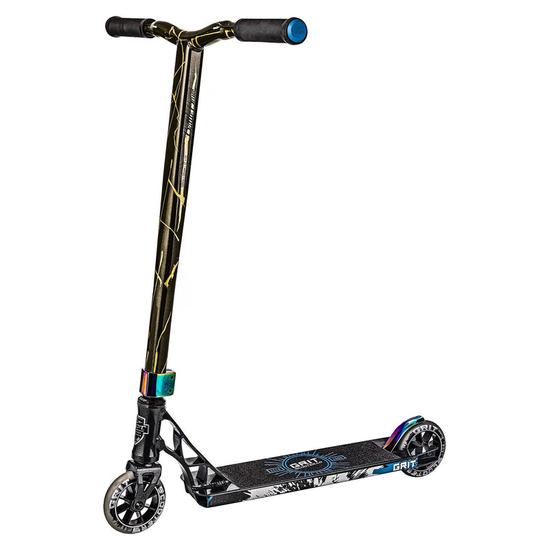 Grit 2018 Elite Stunt Scooter - Grey/Gold Quake