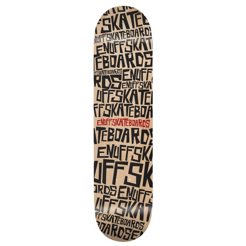 ENUFF SCRAMBLE NATURAL SKATEBOARD DECK - MAIN VIEW