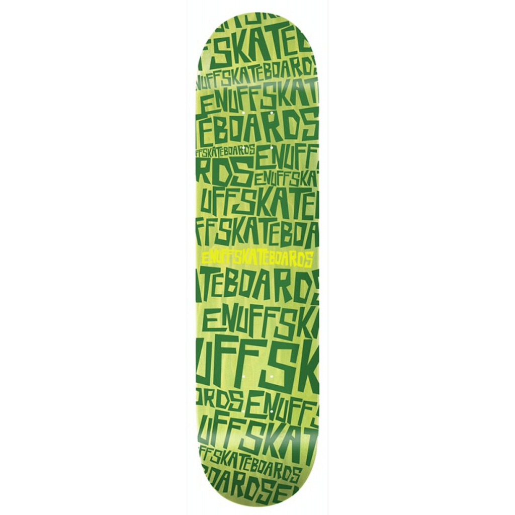 ENUFF DOPPLER GREEN SKATEBOARD DECK - MAIN VIEW