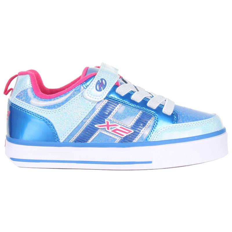 Flashing Blue Girls Heelys Shoes - Side View