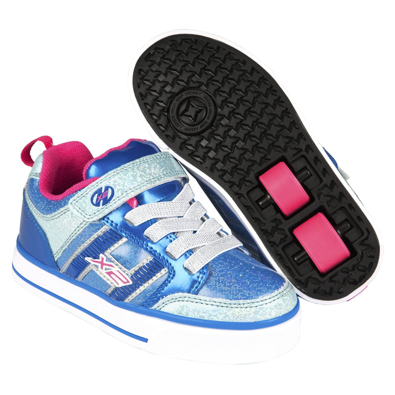 Flashing Blue Girls Heelys Shoes - Main View