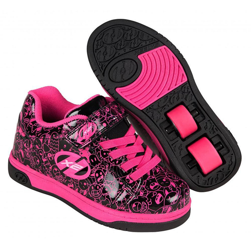 Heelys Dual Up Black Hot Pink Graphic