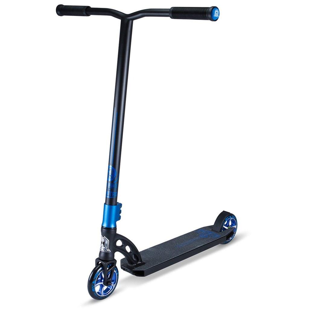 BLACK BLUE MGP STUNT SCOOTER - MAIN VIEW