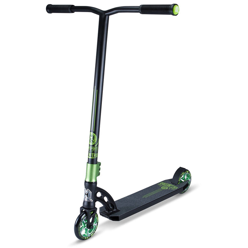 BLACK GREEN MGP STUNT SCOOTER - MAIN VIEW
