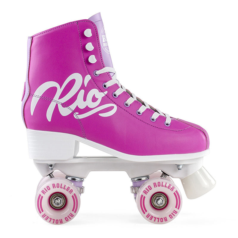 Rio Roller Script Roller Skates - Pink/Lilac - Side View