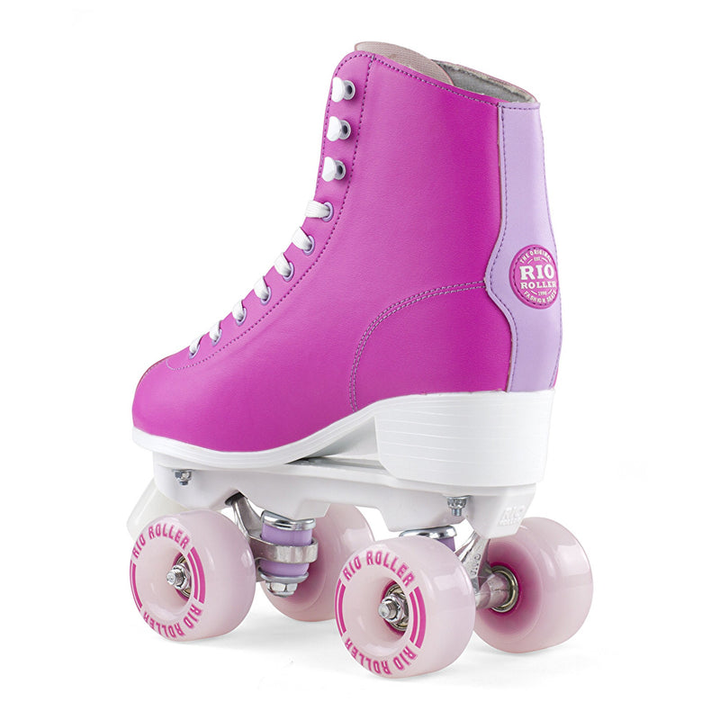 Rio Roller Script Roller Skates - Pink/Lilac - Rear View