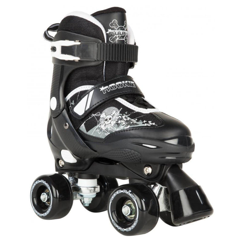Rookie Pulse Kids Black/White Adjustable Roller Skates - Main View