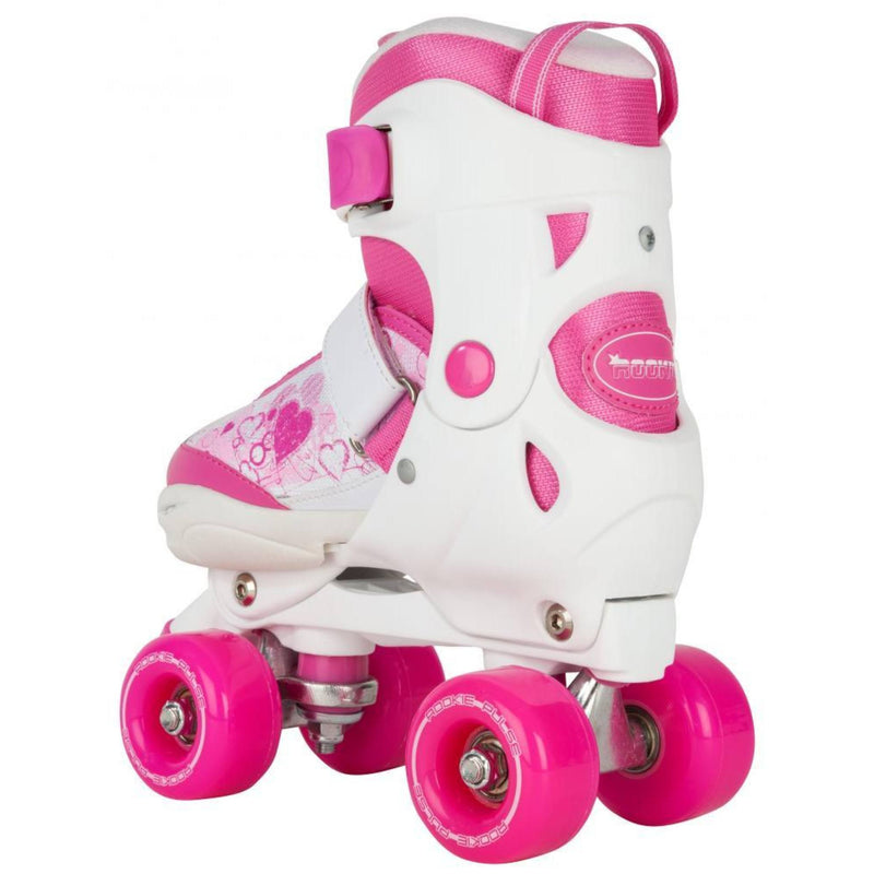 Rookie Pulse Kids Pink/White Adjustable Roller Skates - rear view