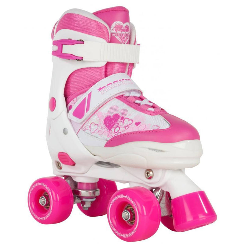 Rookie Pulse Kids Pink/White Adjustable Roller Skates - main view