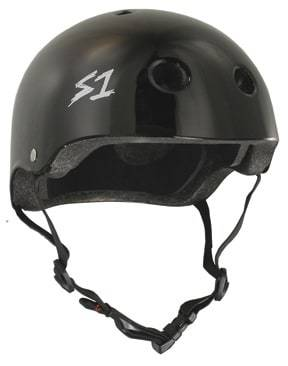 Black Gloss S1 Skate Helmet - Main View