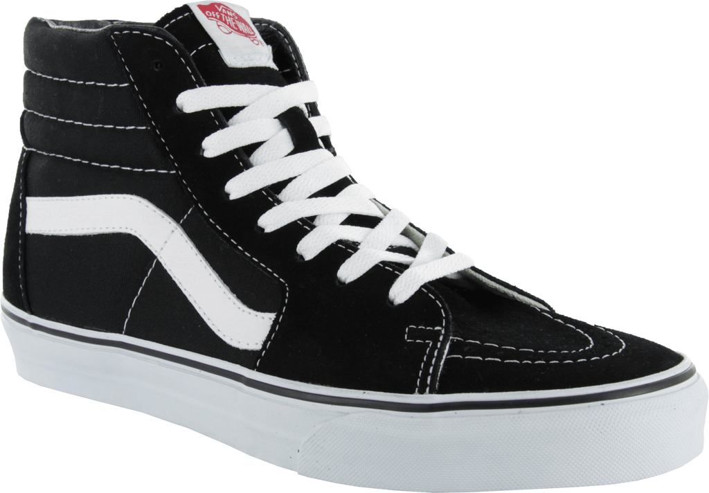 Vans SK8-Hi Black/White Skate Shoes - Main View