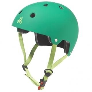 Green Triple 8 Skate Helmet - Main View