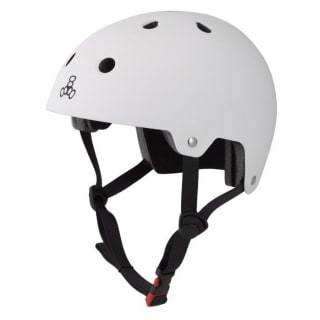 White Triple 8 Skate Helmet - Main View