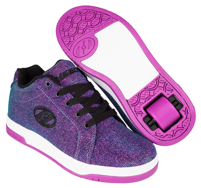 Heelys Split Purple Aqua One Wheel Heelys - Main View