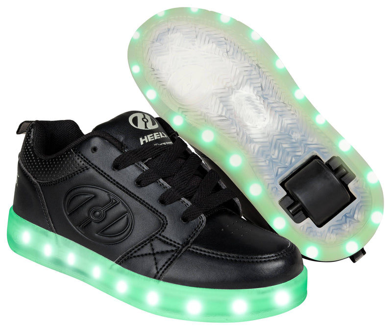 Black Light Up Heelys  - Main View
