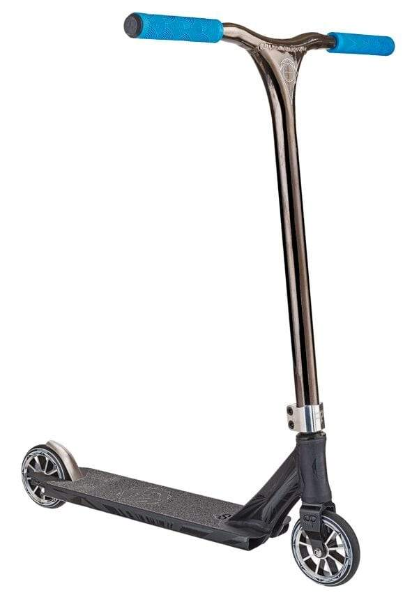 Satin Black Chrome Crisp Stunt Scooter - Main View