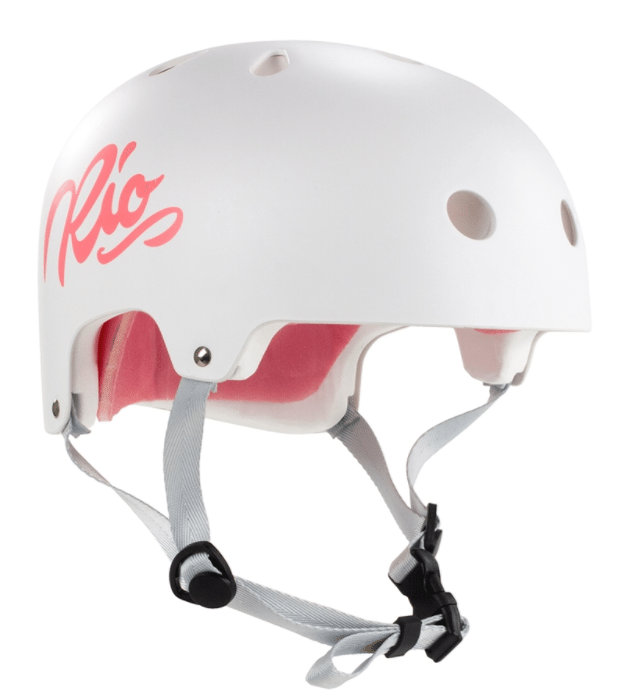 White Rio Roller Helmet - Main View