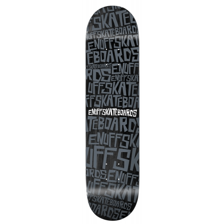 ENUFF SCRAMBLE BLACK SKATEBOARD DECK - MAIN VIEW