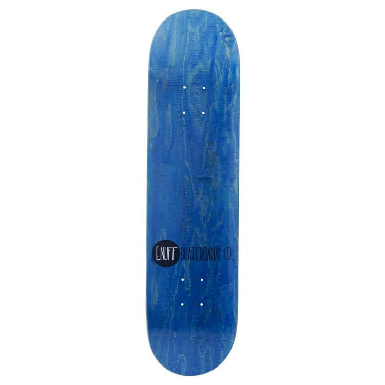 ENUFF LOGO STAIN BLUE SKATEBOARD DECK - MAIN VIEW