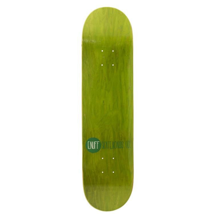 ENUFF LOGO STAIN GREEN SKATEBOARD DECK - MAIN VIEW