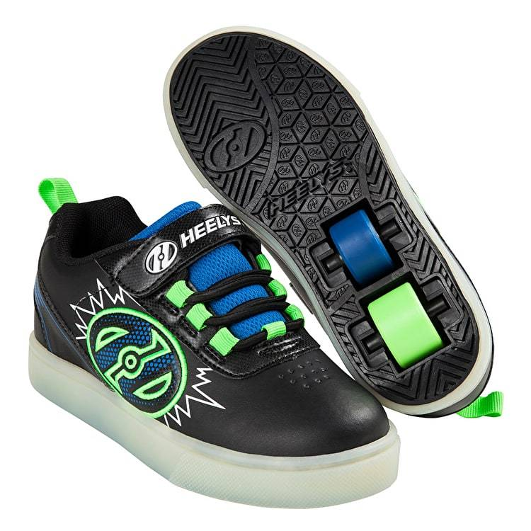 Heelys POW Lighted Black Blue Green
