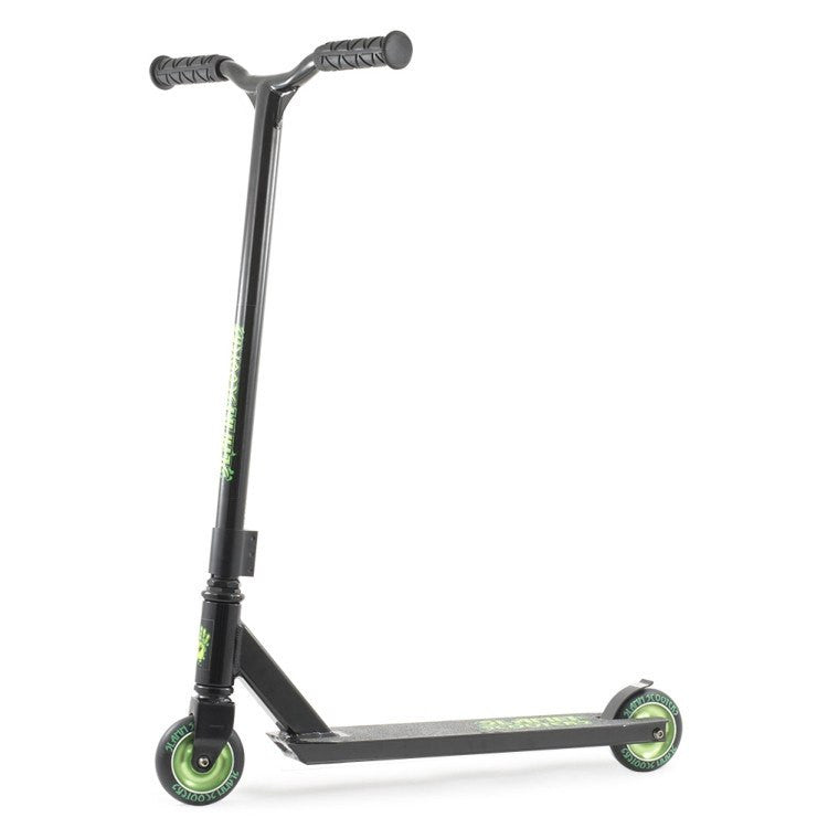 SLAMM STARK STUNT SCOOTER - BLACK/GREEN - MAIN VIEW