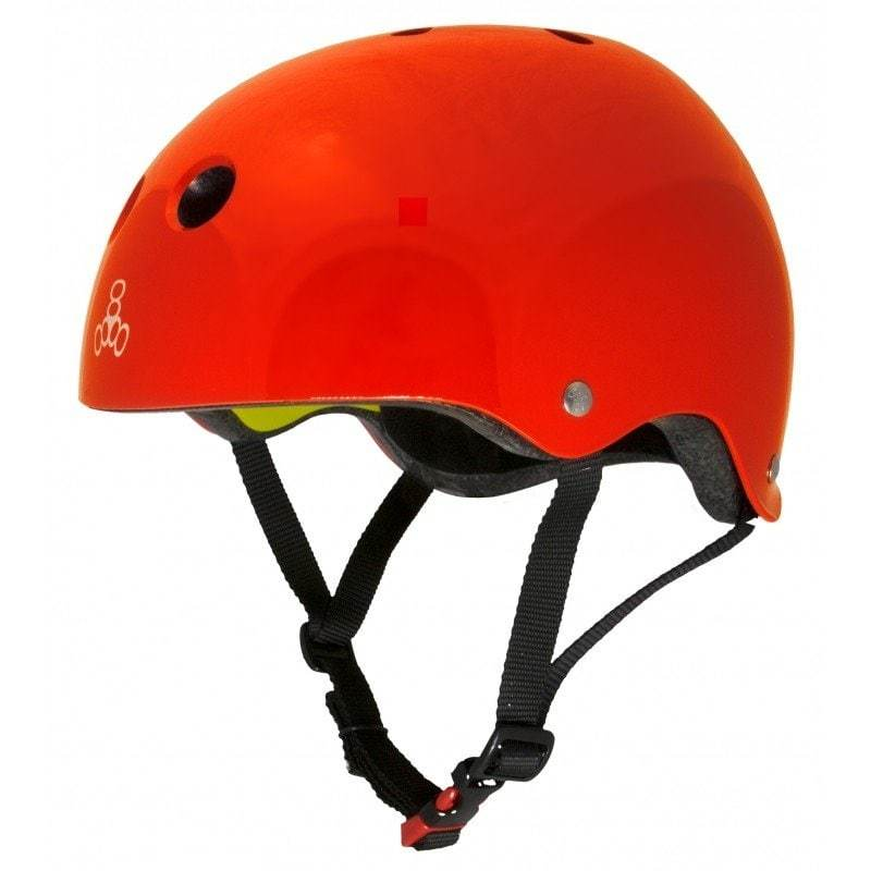 Red Triple 8 Skate Helmet - Main View
