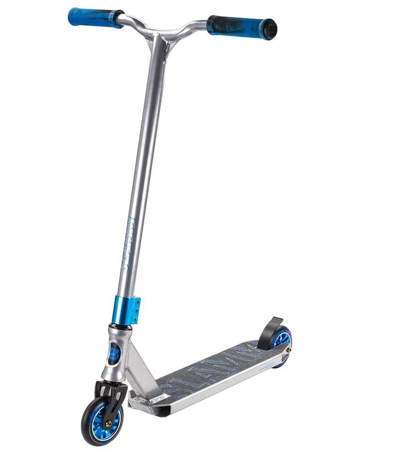 Grey Blue Slamm Stunt Scooter - Main View