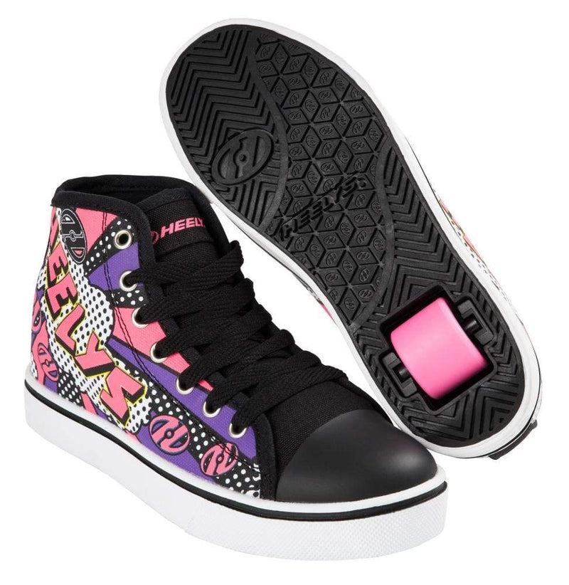 Heelys Veloz Black White Pink One Wheel Heelys - Main View