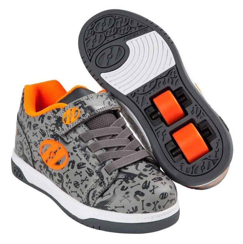 Heelys X2 Dual Up Grey Orange Two Wheel Heelys - Main View